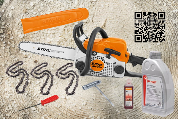 "Stihl MS 170 Benzinkettensäge ""All in One"" Paket"